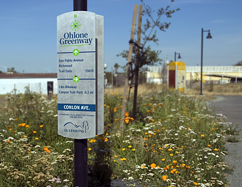 Ohlone Greenway sign