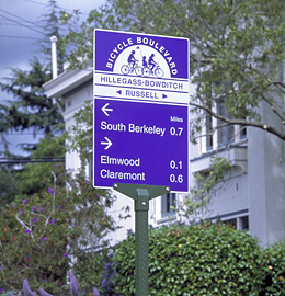Bike Boulevard directional sign