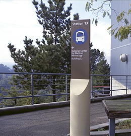 Berkeley Lab shuttle sign